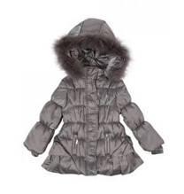 Детская куртка для девочки Одежда для девочек 0-2 Artigli Италия А03251 Серый 80, 100% полиэстер