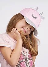 Дитяча кепка для дівчинки Одяг для дівчаток 0-2 Dembo House Україна мейт Рожевий