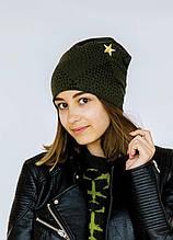 Дитяча шапка для дівчинки Dembo House Україна мітпек захисний весняна осіння демісезонна