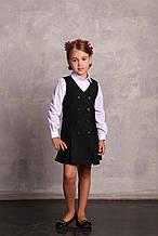 Школьный сарафан для девочки Школьная форма для девочек ПромАтельеСервис Украины НИКА черный
