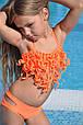 Дитячий купальник для дівчинки BAEL Україна Восьминіжка Помаранчевий 122, фото 2