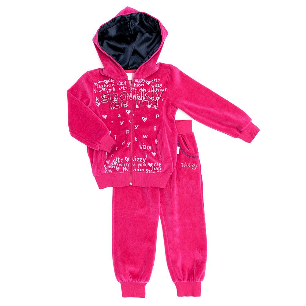 Костюм спортивный для девочек Wizzy 4-6  розовый 2249