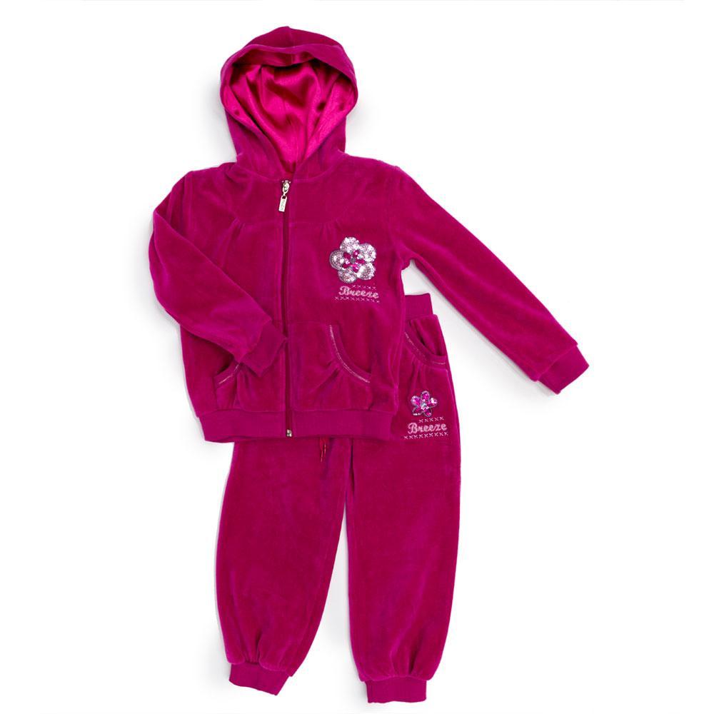 Костюм спортивный для девочек Breeze 104  розовый 3179