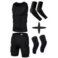 Комплект Защитный шорты+майка+нарукавники+наколенники тренировочная одежда