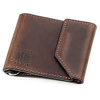 Зажим для денег винтажный GRANDE PELLE 11148 Коричневый кошелек/портмоне | мужской/женский из кожи, Кожаный, Натуральная кожа