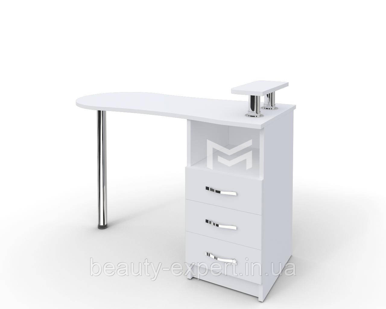 """Стол для маникюра с подставкой под лаки в салон красоты, маникюрный стол для парикмахерской M102 """"Эстет №2"""""""