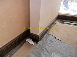 Установка межкомнатных дверей с витражными стеклами + подрезка и монтаж плинтусов 12