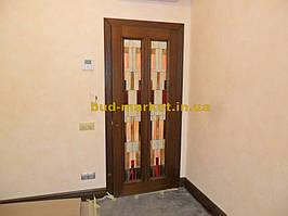 Установка межкомнатных дверей с витражными стеклами + подрезка и монтаж плинтусов 14