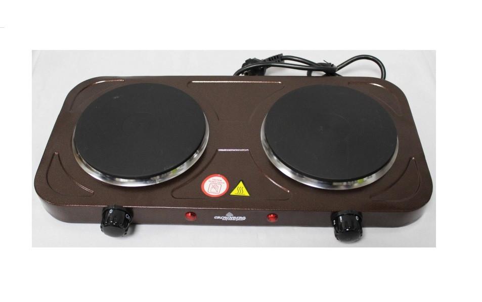 Плита электрическая двухконфорочная Crownberg - CB-3747 (дисковая)