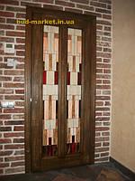 Установка межкомнатных дверей с витражными стеклами + подрезка и монтаж плинтусов 27