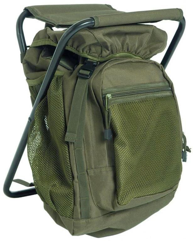 Рюкзак туристический с раскладным стульчиком 20л MIL-TEC Olive, (14059001)