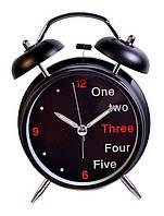 Креативные часы - 1, 2,3 ... черные