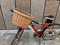 Корзина на велосипед із лози багажна. Корзина на руль. Велокорзина. 38x30 вис.20 см.
