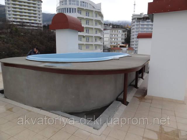 Композитный бассейн на девятом этаже