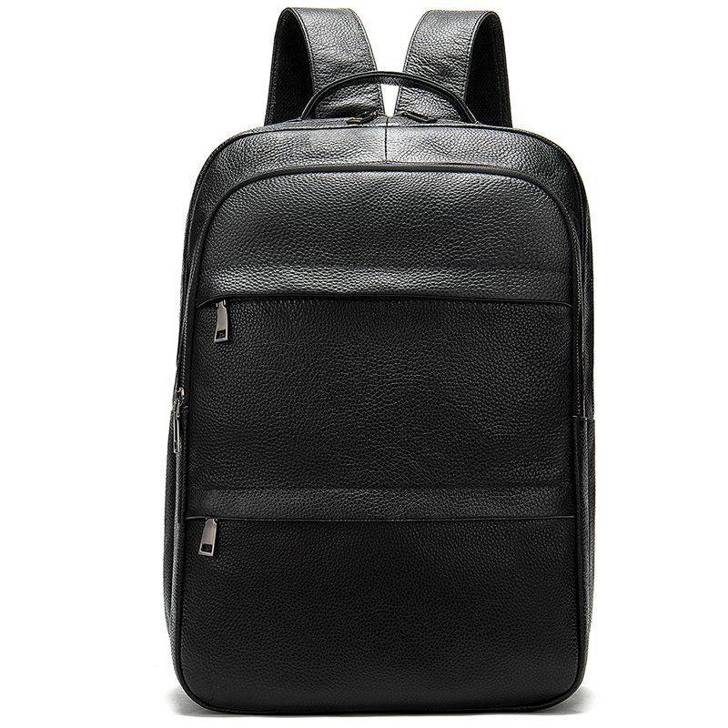 Рюкзак кожаный Vintage 20036 Черный, Черный