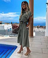 Платье женское с пуговицами, фото 1