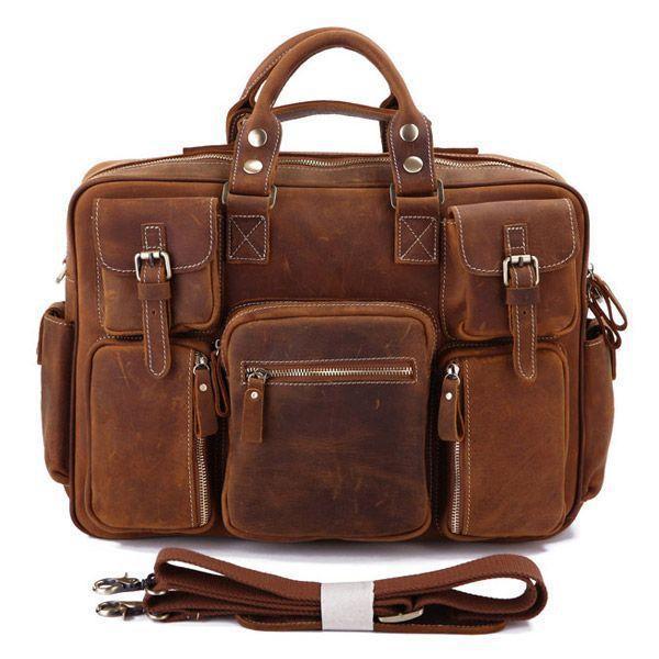 Сумка мужская Vintage 14065 винтажная кожа Коричневая, Коричневый