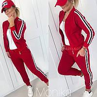 Женский стильный спортивный костюм из двухнитки Батал, фото 1