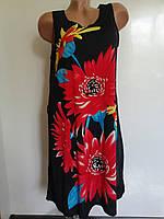 Платье летнее в крупный цветок