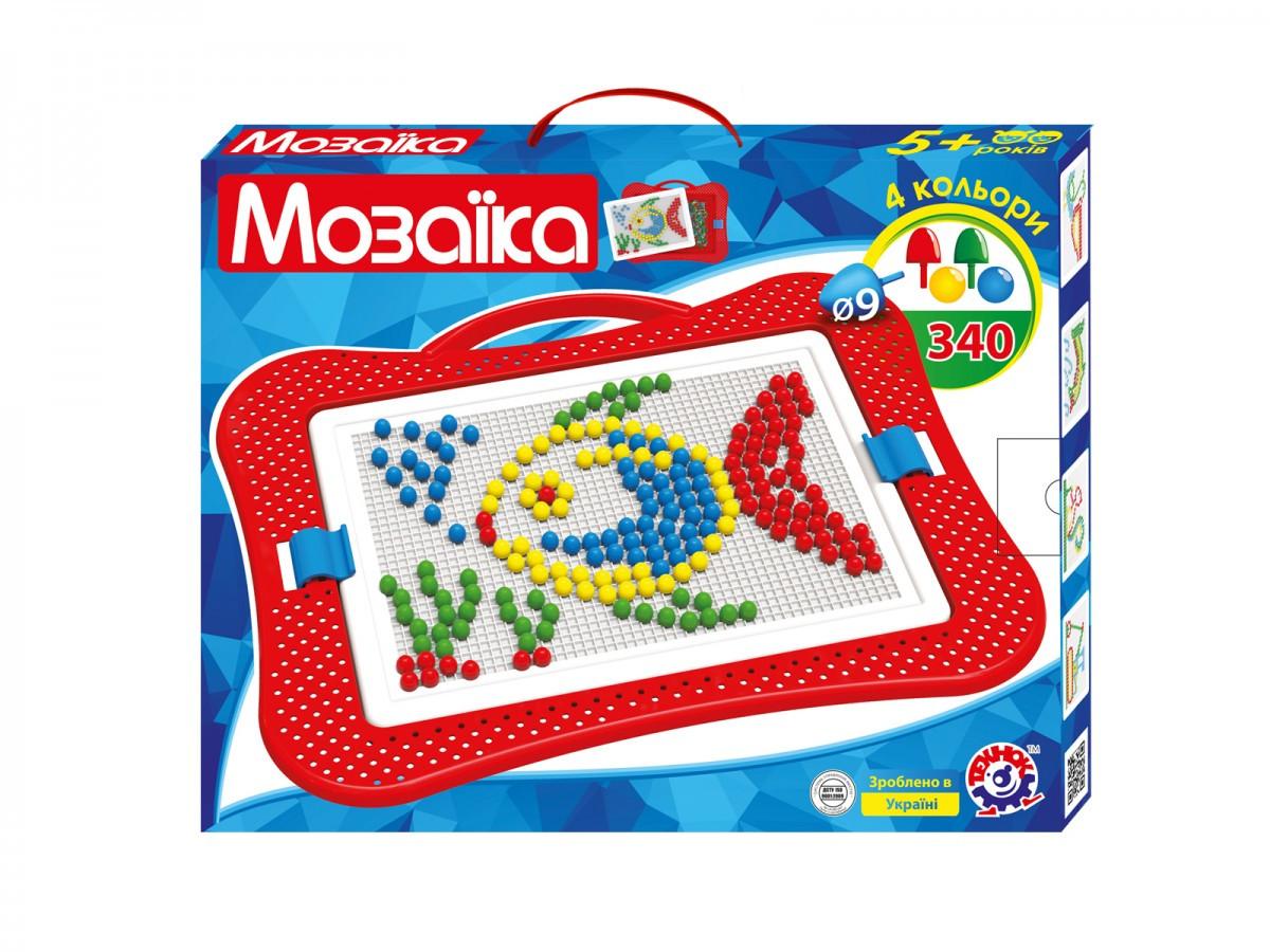 Мозаика ТехноК №4 340 шт., 9мм, 4 цвета (3367)