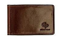 Зажим кожаный ONDA с монетницей Grande Pelle GP125620 коричневый (12234), фото 1