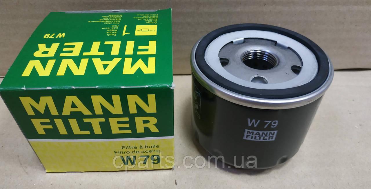 Масляный фильтр Renault Kangoo 2 1.5 DCI (Mann W79)(высокое качество)
