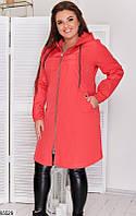 Куртка-плащ большого размера р.48-62