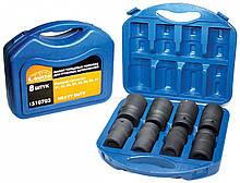 """Головка шестигранная ударная в наборе LAVITA пластиковый кейс 1"""", 21, 22, 24, 27, 30, 36, 38, 41 мм."""