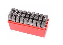 Набор буквенных штампов 27 предметов (3 мм) в пластиковом боксе (Латинский) Forsage F-02703