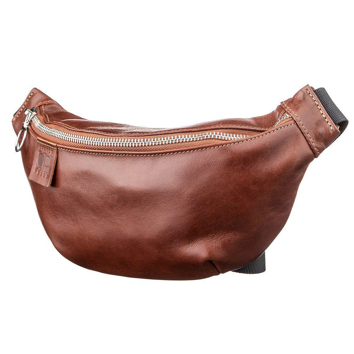 Поясная сумка GRANDE PELLE 11141 коричневая, Коричневый