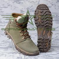 Ботинки зимние Энерджи кожа олива набивной мех, фото 1