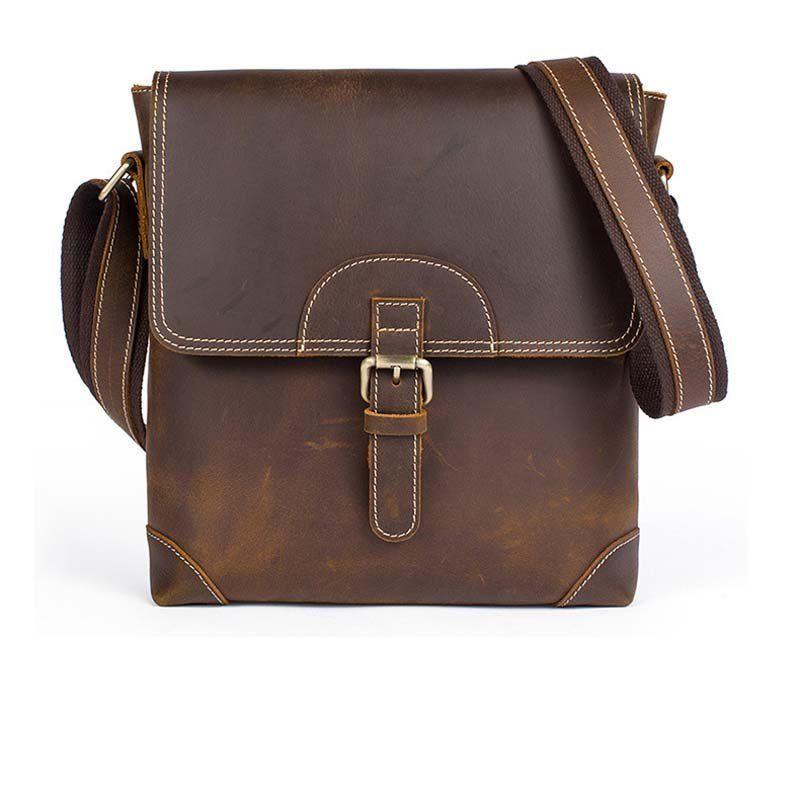 Сумка мужская Vintage 14675 Коричневая, Коричневый