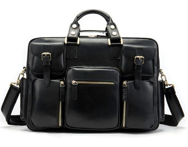 Сумка мужская Vintage 14756 Черная, Черный