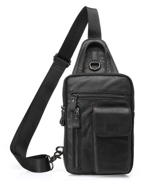 Сумка через плечо мужская Vintage 14777 Черная, Черный