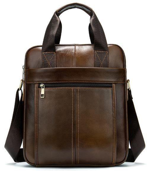 Деловая мужская сумка кожаная Vintage 14789 Коричневая, Коричневый