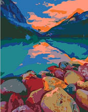 Картина за номерами Rosa Озеро Луїза, Канада