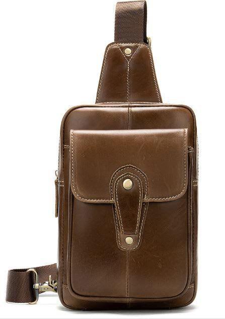 Сумка через плечо мужская Vintage 14856 Коричневая, Коричневый