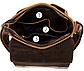 Сумка мужская вертикальная кожаная Vintage 20029 Коричневая, Коричневый, фото 8