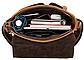Сумка мужская вертикальная кожаная Vintage 20029 Коричневая, Коричневый, фото 9