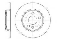 Тормозной диск задний VW TRANSPORTER IV,пр-во ABE C4W001ABE, фото 1
