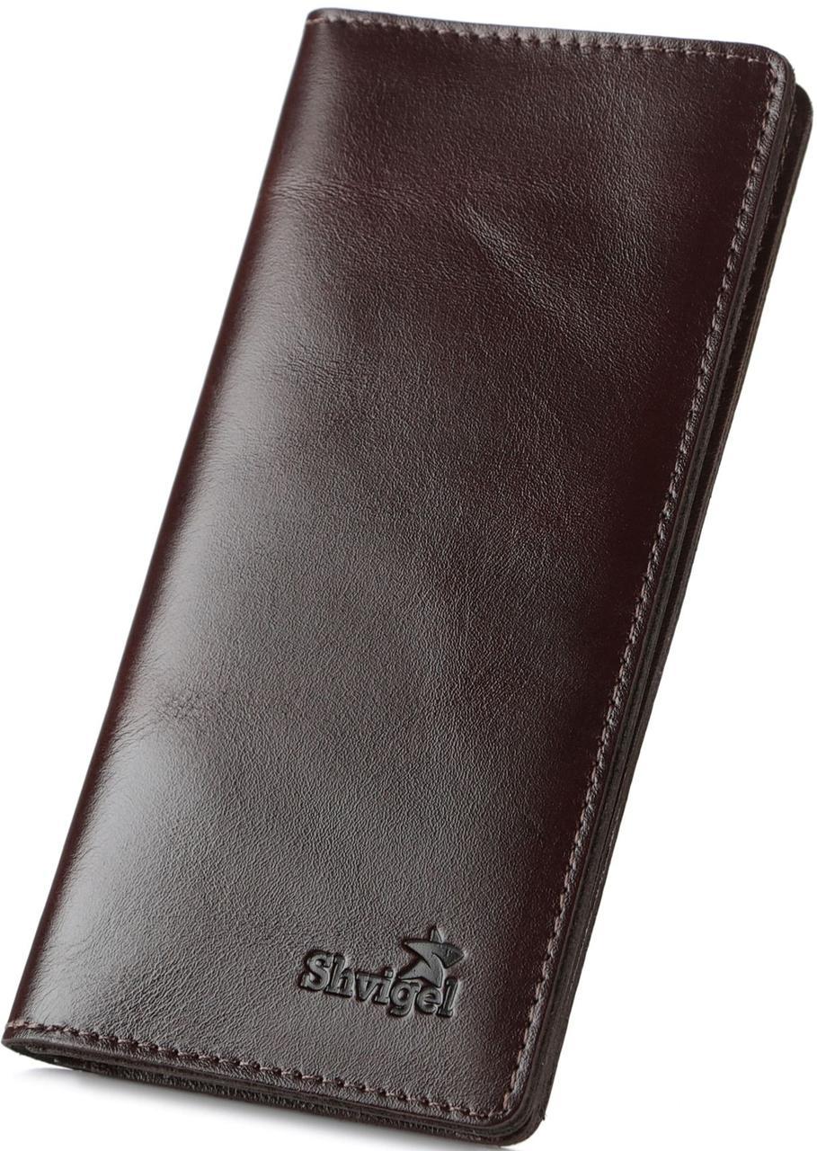 Добротный кожаный кошелек из натуральной кожи 16153, Коричневый
