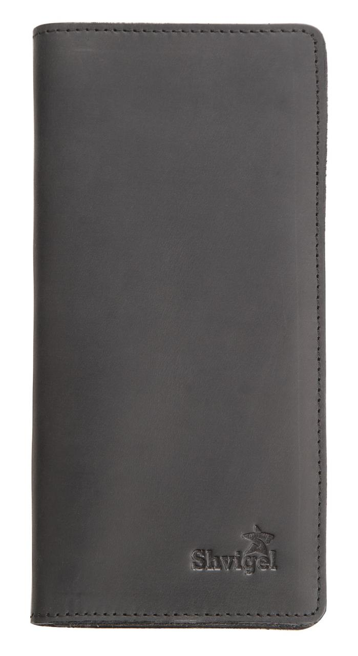 Кошелек SHVIGEL из винтажной кожи 13794 Черный, Черный
