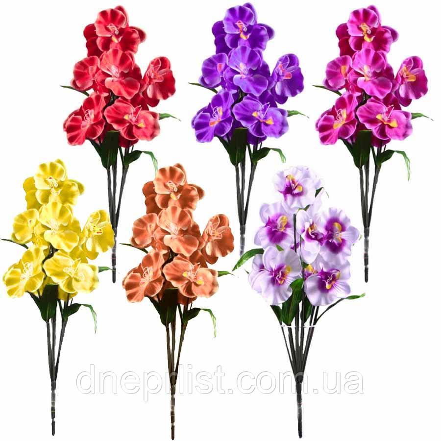"""Букет искусственный """"Орхидея"""" 10 цветков, диаметр - 12 см, 60 см"""