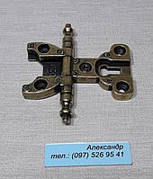 Петля врезная с декором  бронза CD206