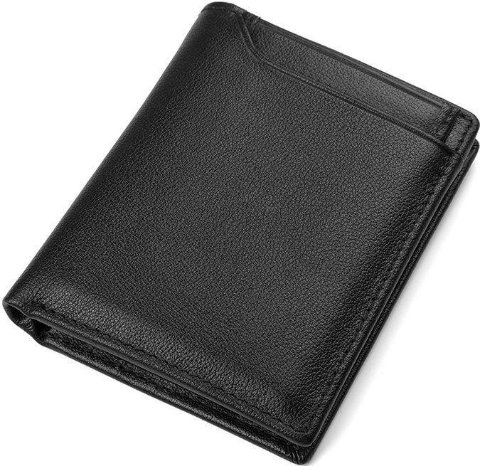 Кошелек мужской Vintage 14594 кожаный Черный, Черный