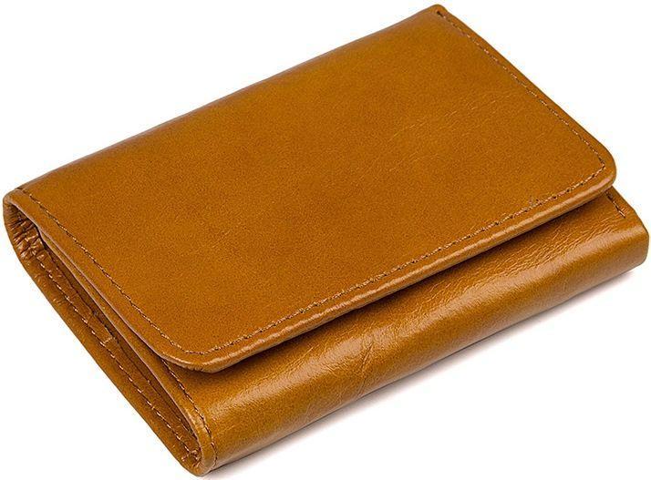 Кошелек Vintage 14597 кожаный Рыжий, Рыжий