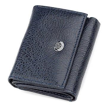 Кошелек ST Leather 18322 (ST440) небольшой кожаный Синий, Синий