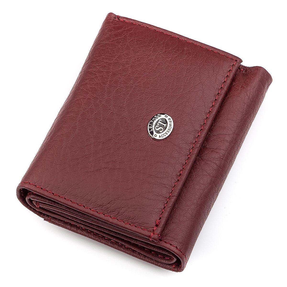 Кошелек ST Leather 18324 (ST440) кожа Бордовый, Бордовый