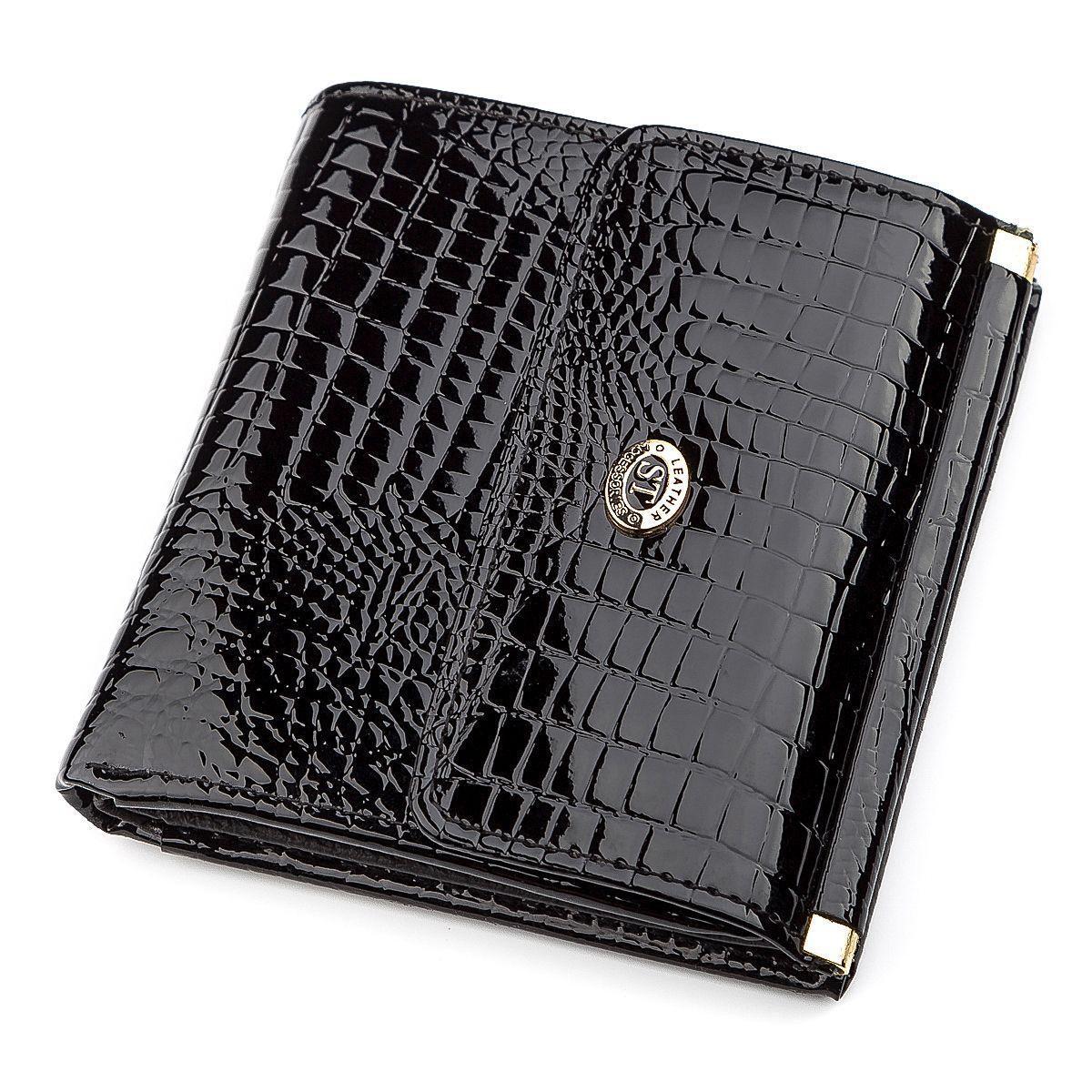 Кошелек женский ST Leather 18357 (S1101A) компактный Черный, Черный