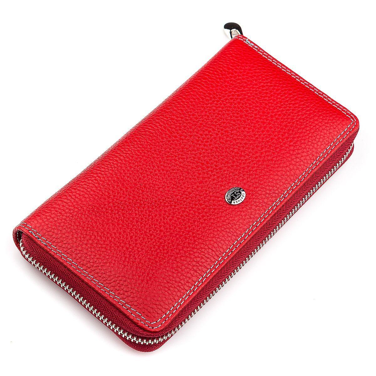 Кошелек женский ST Leather 18376 (SB71) кожаный Красный, Красный